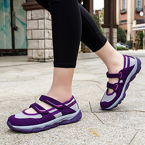 Womens Mary Flat Strap Outdoor Walking Hiking Sandals Sneakers TQGOLD Casual Shoes Shoes Purple Mesh Jane 1dtpxqw
