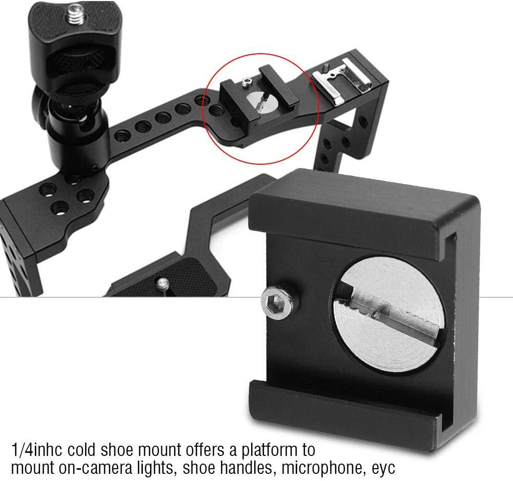 1//4 Cold Shoe 0 Cold Shoe Mount Adapter Compatible with Most Camera Cold Shoe Mount Adapter 1//4 Cold Shoe Mount Simlug Cold Shoe Mount Cold Shoe Adapter