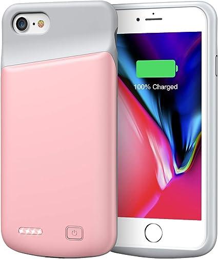 Amazon.com: Funda de batería para iPhone 7/8, 4500 mAh ...
