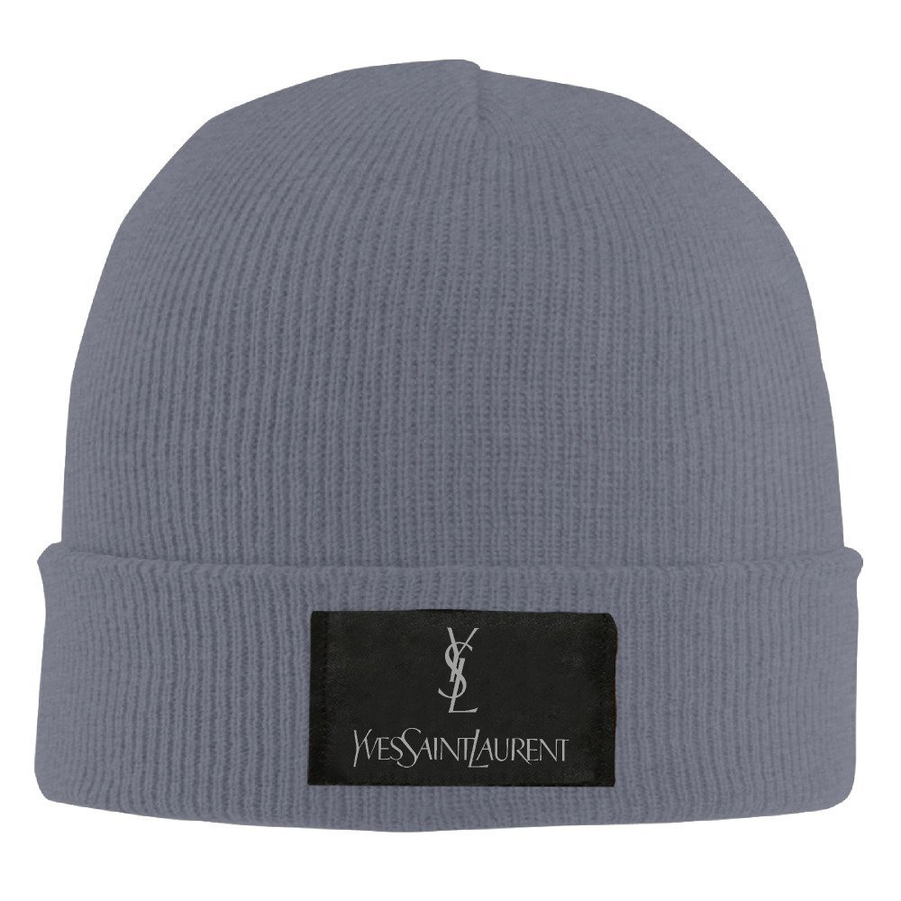 Unisex YSL Saint Laurent Warm Winter Hat Knit Beanie Skull Cap Cuff Beanie  Hat b16afc52390