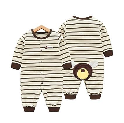 Baby Onesies Primavera y Otoño Pijamas de otoño y de Manga Larga para Hombres de Manga