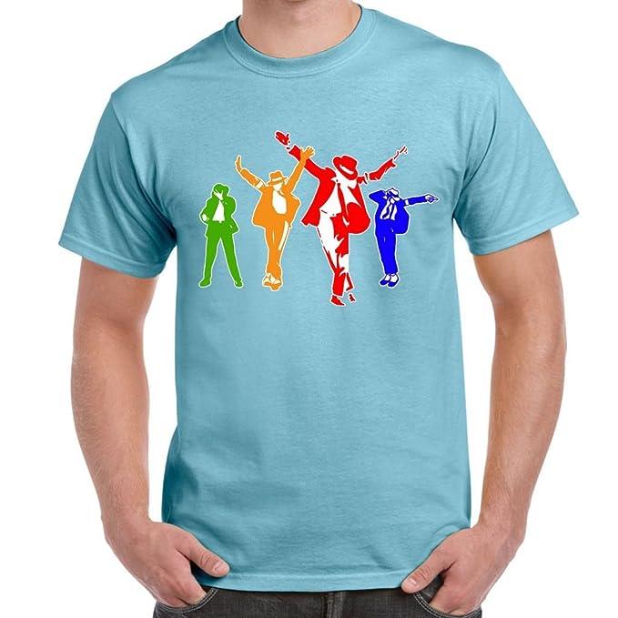 Divertido para Hombre Camisetas Impresas - Michael Jackson Coloured Silhoutte-Funny Gifts Tees - Regalo