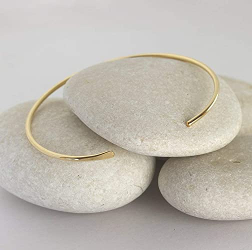 b1de3bdb3 Image Unavailable. Image not available for. Color: Smooth Gold Cuff Bracelet  ...