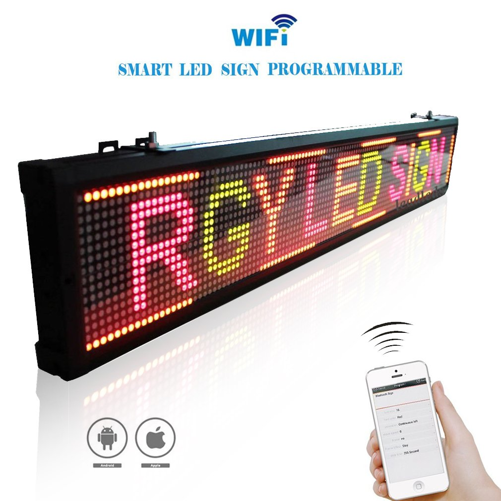 Tricolor WIFI led sign