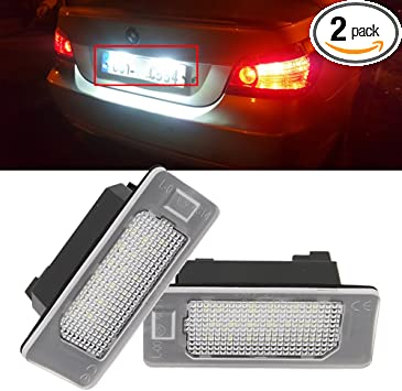 Car License Plate Light Led Car Number Plate Lights Compatible with Error Free 2 pack
