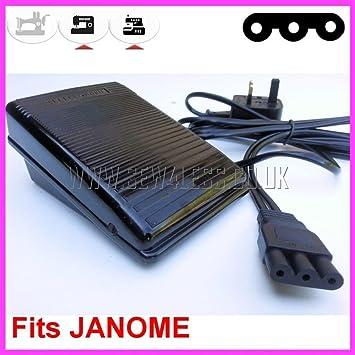 Máquina de coser pedal control controlador 3 pines en línea (con bordes redondeados) Compatible