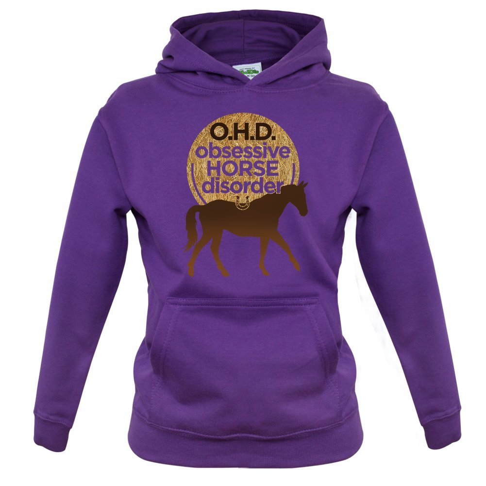 Obsessive Horse Disorder Childrens//Kids Hoodie Ages 1-13 Years