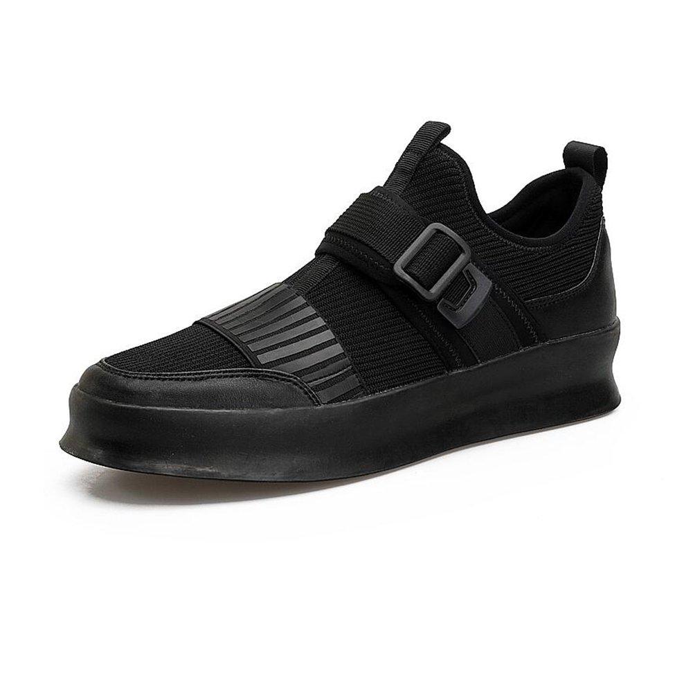 YIXINY Deporte Zapato Primavera Y Verano Zapatos De Placas Hombre Adolescente Estudiante Zapatos De Malla Desodorante Transpirable Blanco / Negro ( Color : Negro , Tamaño : EU42/UK8.5/CN43 ) EU42/UK8.5/CN43|Negro