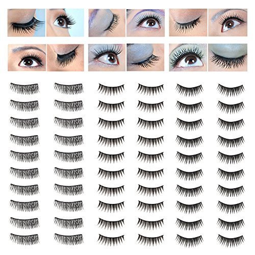 Amazing Deal Make Up Artists Set of 30 Pairs Best Quality Handmade False Eyelashes / Fake Eyes Lashes In 3 Different Styles By VAGA