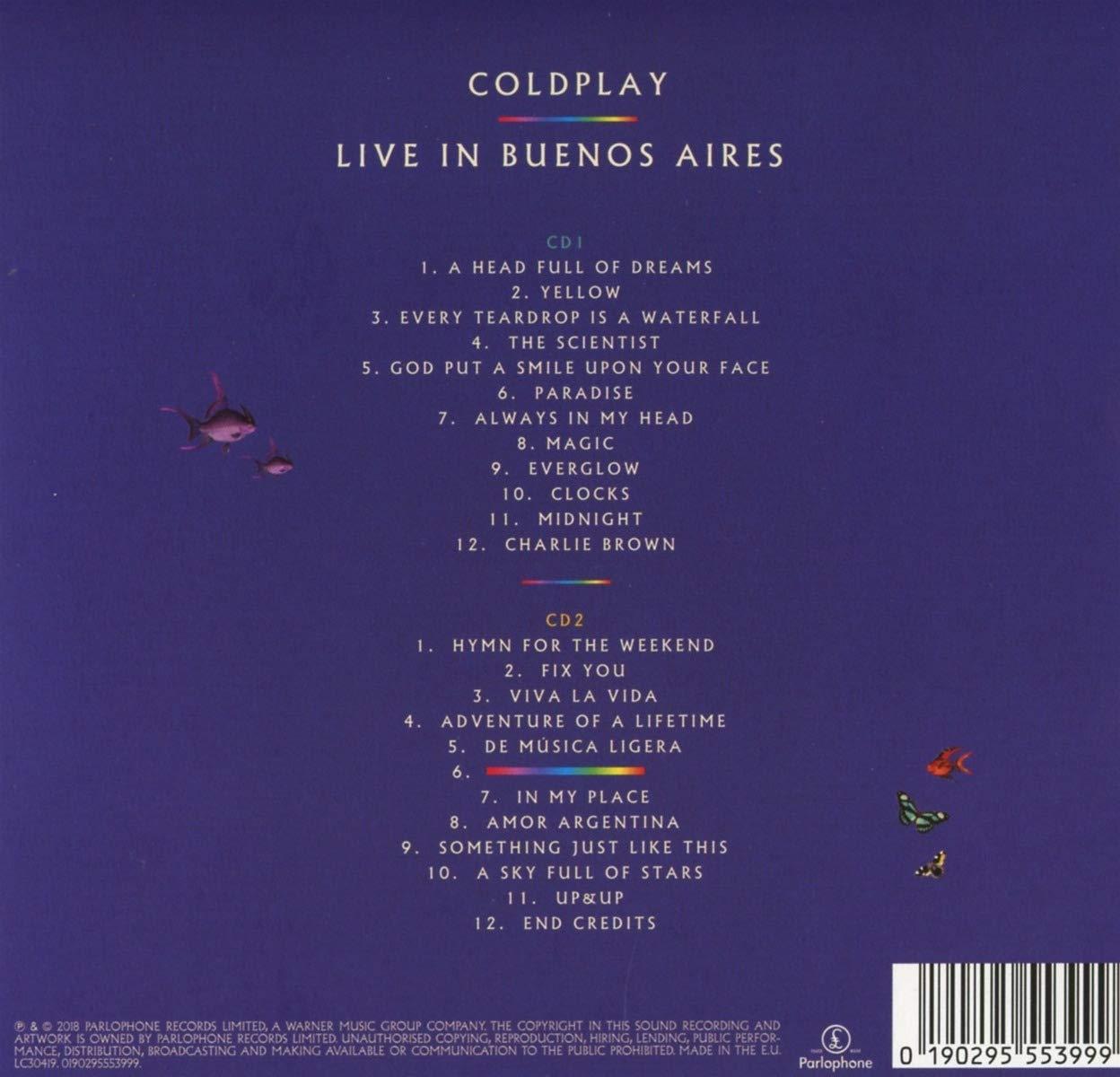 Live In Buenos Aires: Coldplay, Coldplay: Amazon.es: Música
