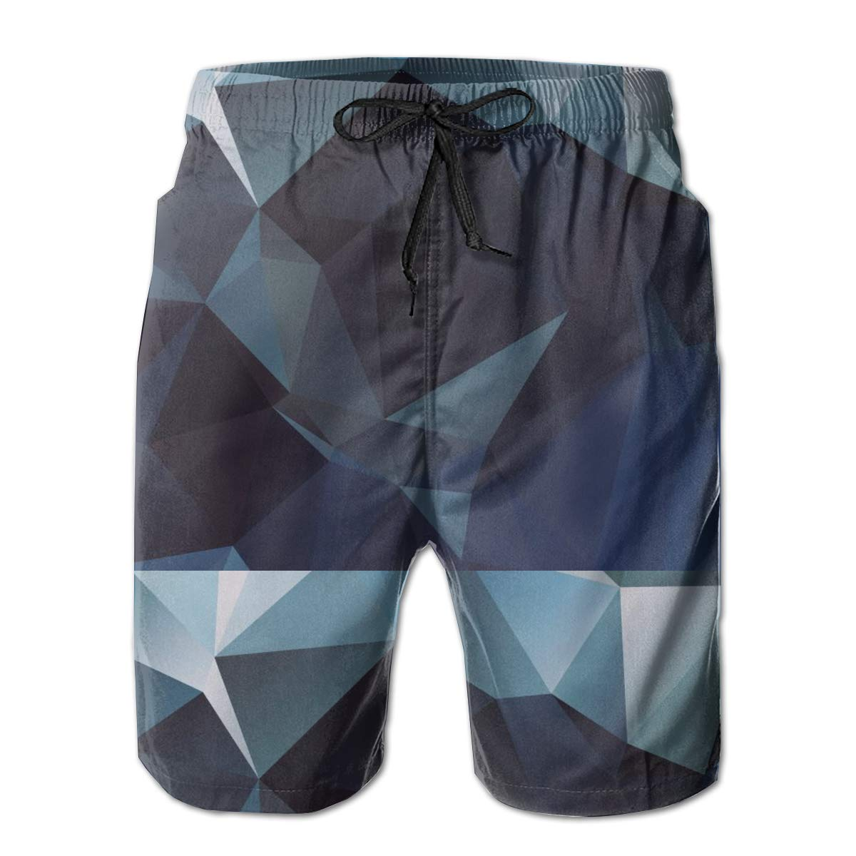 Jngjs Mens 3D Printed Sports Shorts with Pockets Beach Briefs