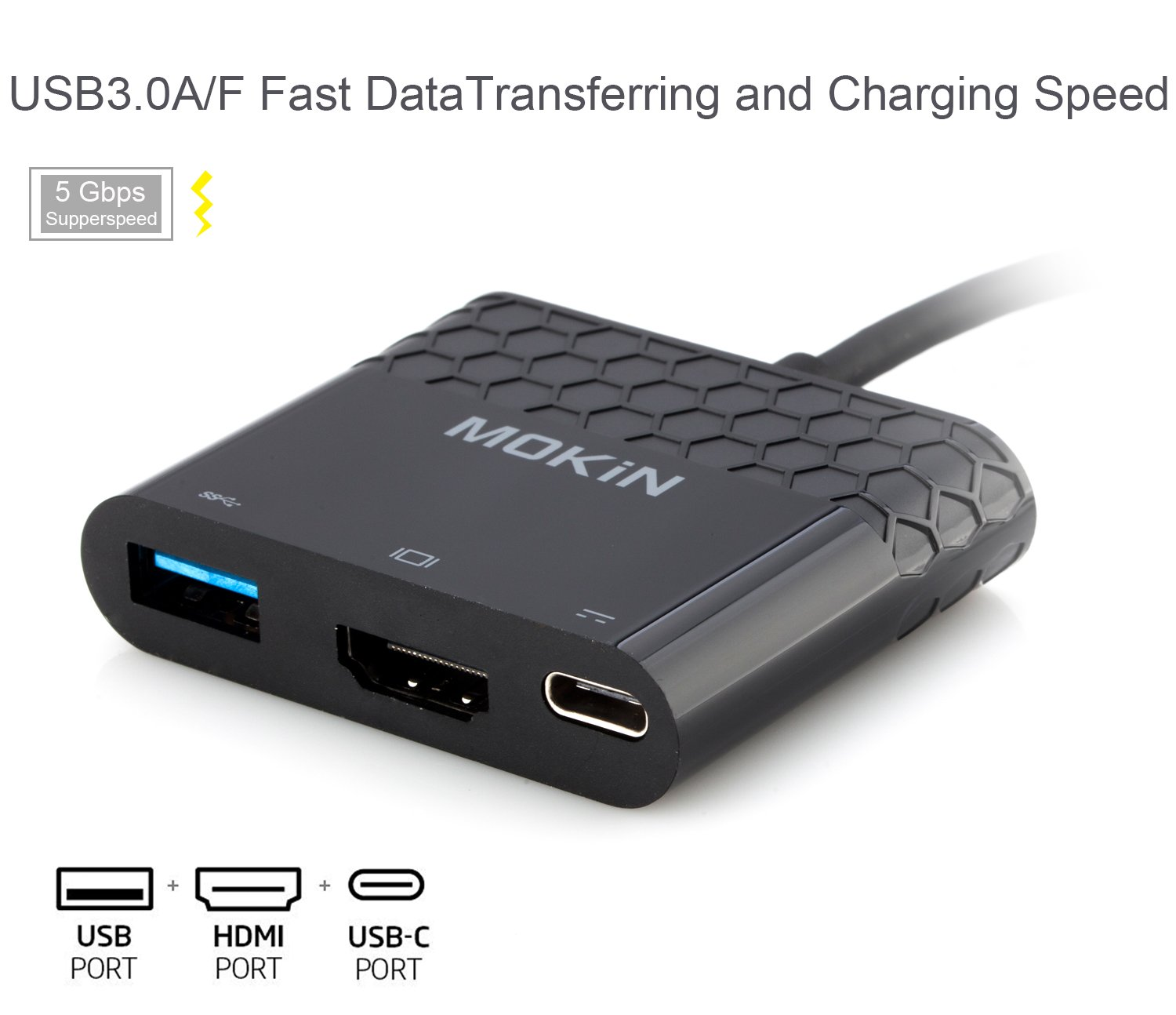 type two weeks notice%0A Amazon com  USBC to HDMI USB     USB C F Power PassThrough Port Multiport  Adapter Supports  K Black  USBC To HDMI USB Power Pass ThroughBlack