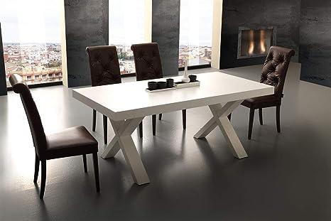 Emporio3 Tavolo da cucina allungabile in legno Fuji - SG1564, Bianco ...