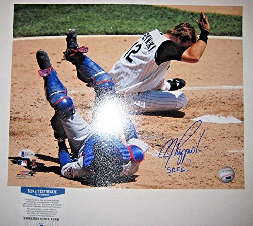 (A.J. Pierzynksi Signed Autographed White Sox 11x14 Photo Beckett COA)