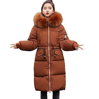 bbc5d00f0 Women Thicken Warm Winter Coat Hood Parka Overcoat Long Jacket Outwear (L,  Coffee 2