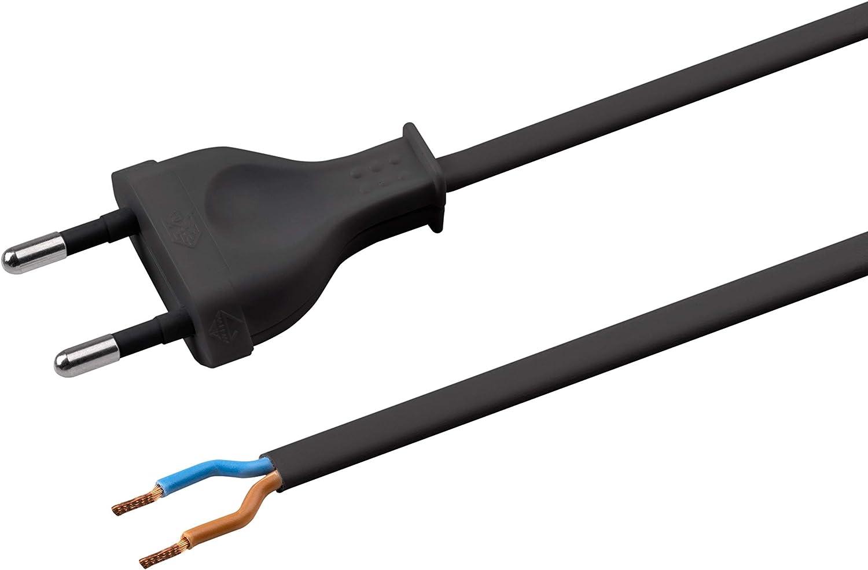 con Interruptor 7442510 h03vvh2/de F 2/x 0,75 Meister Cable 2/m Color Blanco