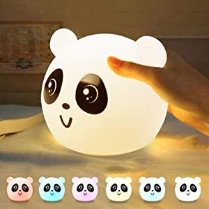 CELIVESGG Night Light Panda 7 Colors LED Nursery Night
