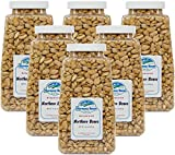 Harmony House Foods Dehydrated Great Northern Beans (16 Oz Quart Size Jar) - Set of 6