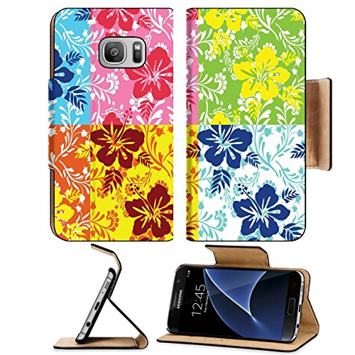 Surf Rug Longboard (Liili Premium Samsung Galaxy S7 Flip Pu Leather Wallet Case floral background Photo 4358506 Simple Snap Carrying)