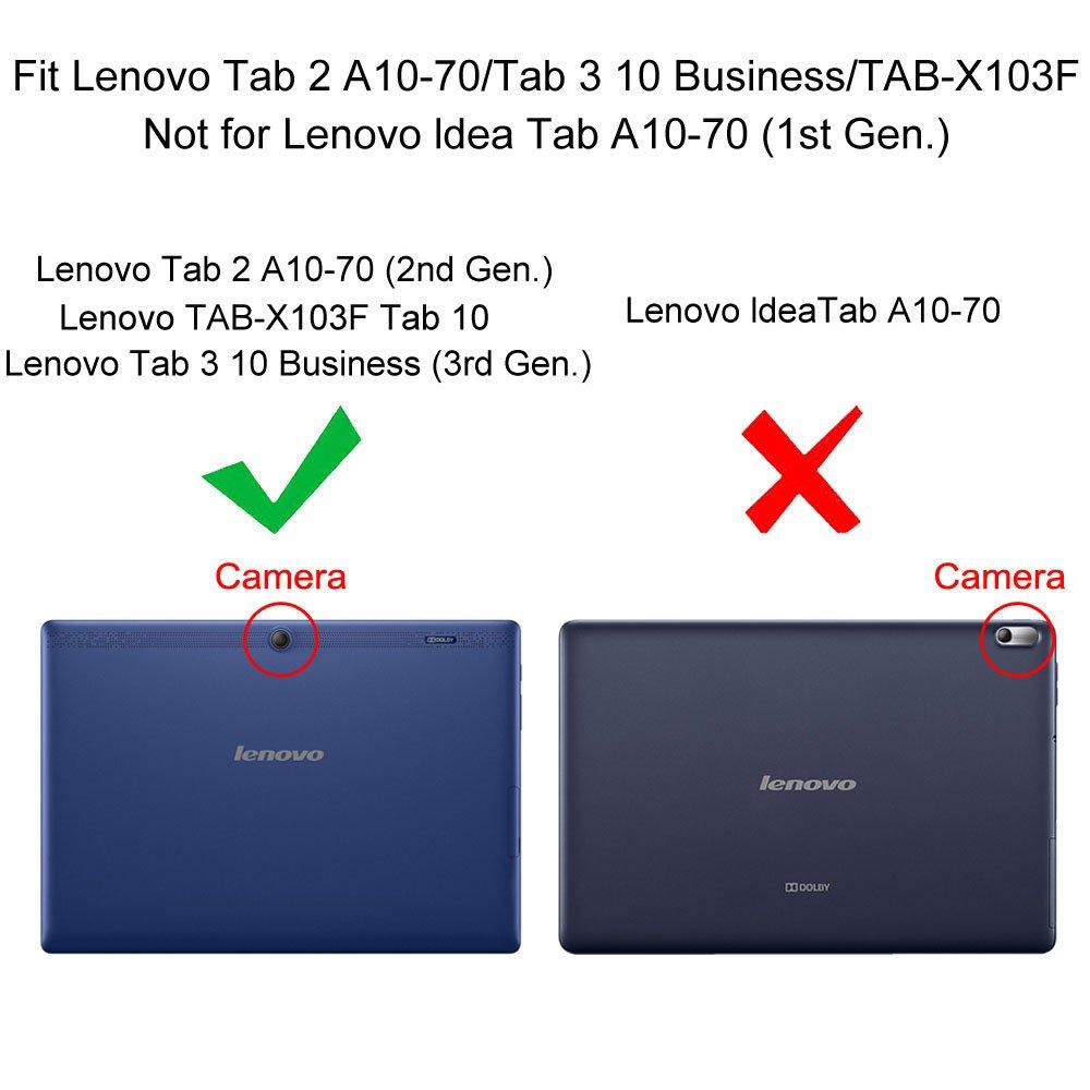 for lenovo tab x103f tab 10 tab2 a10 70 tab3 10 ultra slim case smart cover ebay. Black Bedroom Furniture Sets. Home Design Ideas