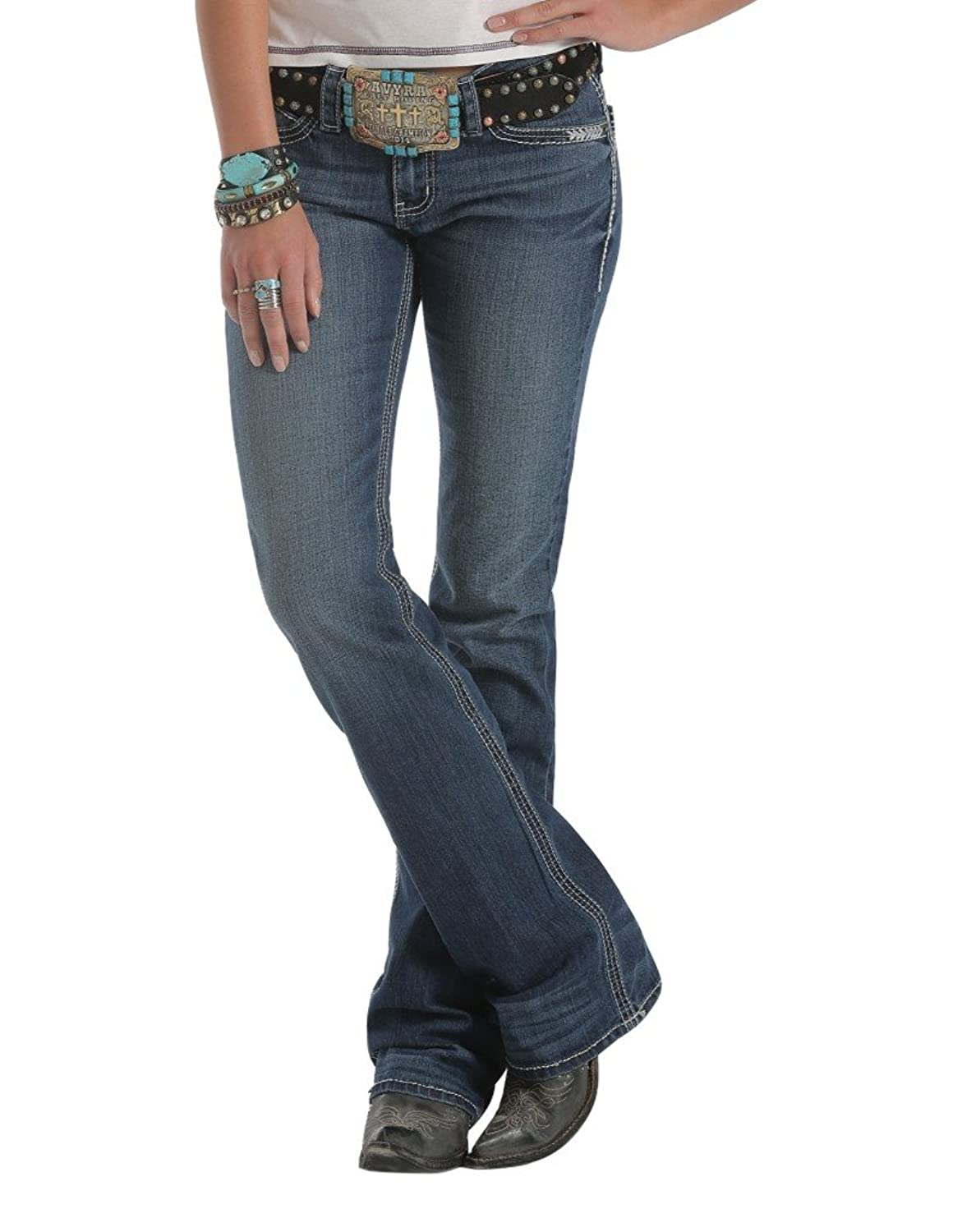 Cruel Girl Western Jean Women Abby Slim 5 Short Medium Wash CB44454071