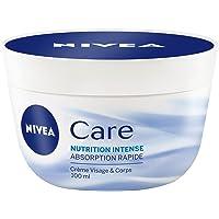 Nivea Care Crème Visage et Corps Nutrition Intense 100 ml - Lot de 2
