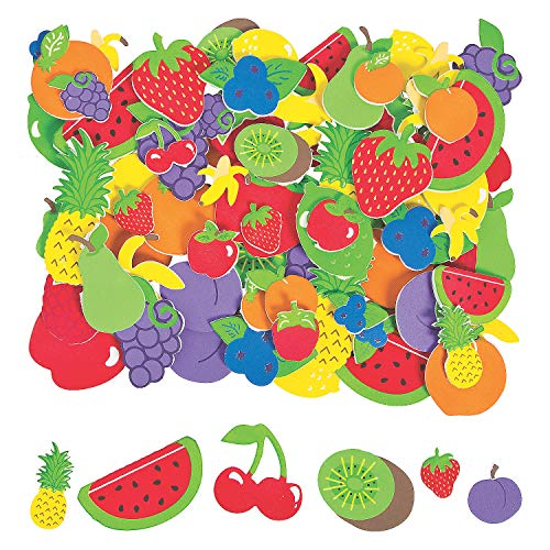Foam Fruit Shapes (500 Pieces)