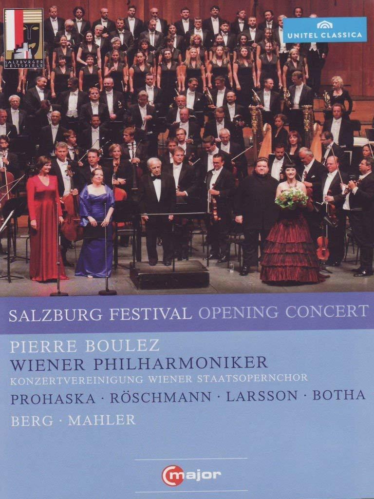 Salzberg Festival Opening Concert (C Major: 710908) (Dorothea Reschmann/ Anna Prohaska/ Anna Larsson/ Johan Botha/ Vienna Philharmonic Orchestra/ Pierre Boulez) [DVD] [2012] [NTSC] by Dorothea Reschmann B01I05MFRW