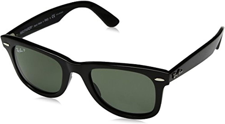 RB RB4340 Wayfarer Sunglasses Black//Green 50mm /& Cleaning Kit Bundle