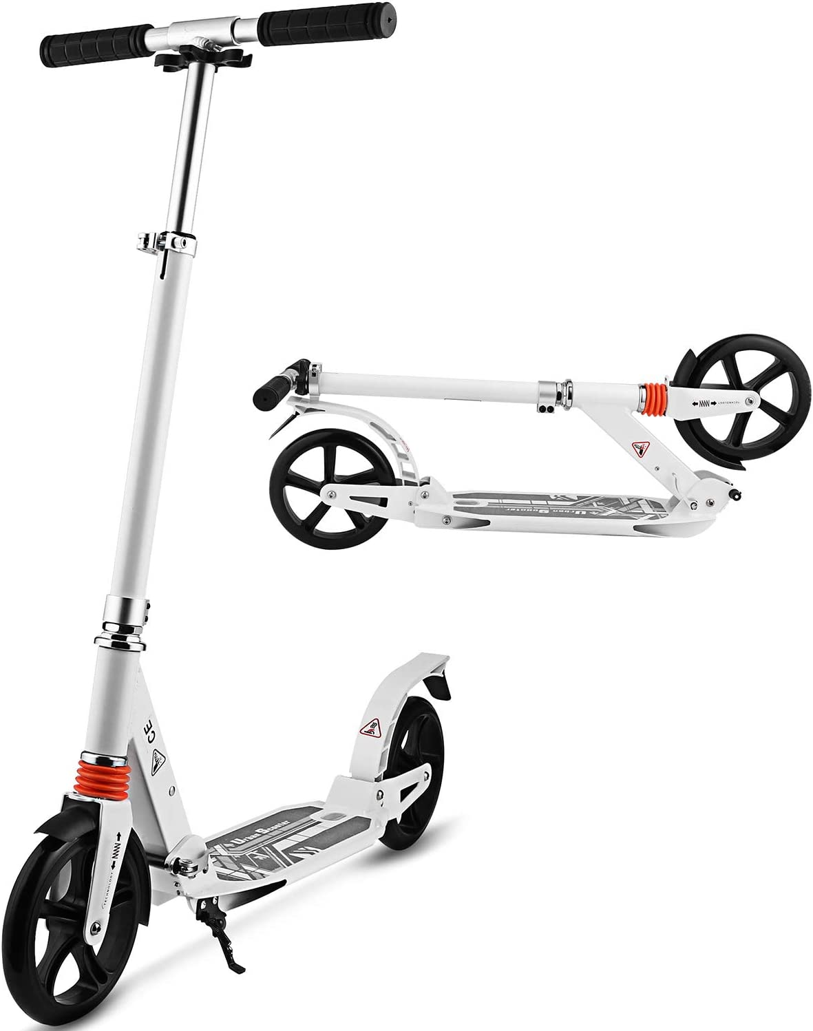 Jetson Saturn Folding 3-Wheel Kick Scooter with Light-Up Stem Deck, Lean-to-Steer Design with Sturdy Wide Deck Adjustable Height, for Kids 5 Up,