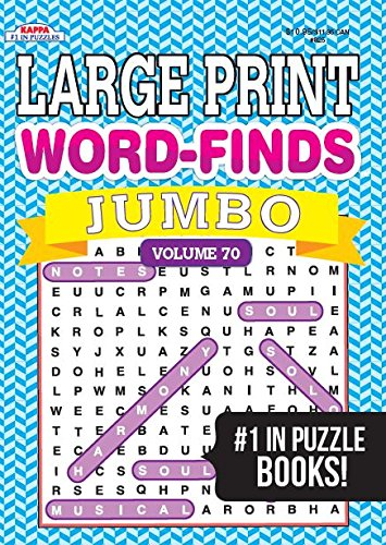 Jumbo Large Print Word-Finds Puzzle Book-Word Search Vol 70
