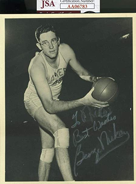 da9251ba420 Image Unavailable. Image not available for. Color: Signed George Mikan  Photo - Coa Autograph ...