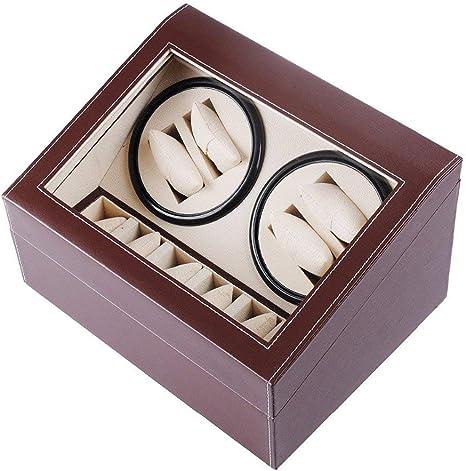 L.HPT 4+6 Cajas Giratorias para Relojes Automaticos,Automatic Watch Winder 4 Relojes Pilas de Madera Caja de Reloj Caja Giratoria Cajas de Relojes Cajas Giratorias Marrón: Amazon.es: Deportes y aire libre