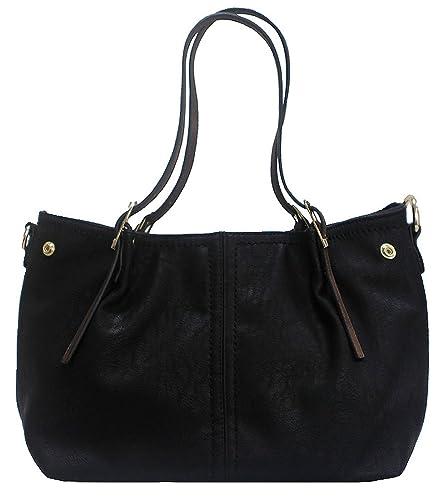Kukubird Patrice Faux Leather With Tassel & Stud Detail Top-Handle Shoulder Tote Handbag - Yellow wzXKyC