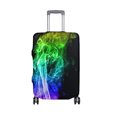 ALAZA Abstract Colorful Smoke Luggage Cover Fits 18-32 Inch Suitcase Spandex Travel Protector lovely