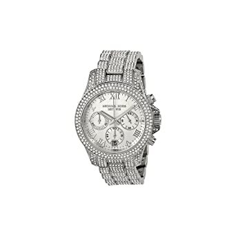 6dce3b87e64e Amazon.com  Michael Kors Layton Chronograph Pave Crystal Ladies Watch  MK5718  Michael Kors  Watches