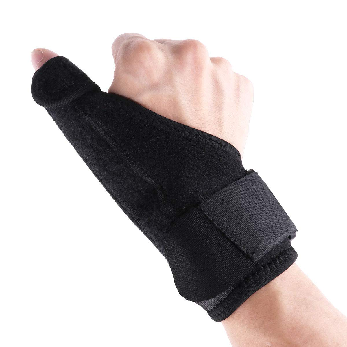 Freebily Hand Thumb Splint Wrap Guard Breathable Thumb Spica Wrist Support Brace for Arthritis De Quervains Carpal Tunnel Pain Relief Right Hand One Size