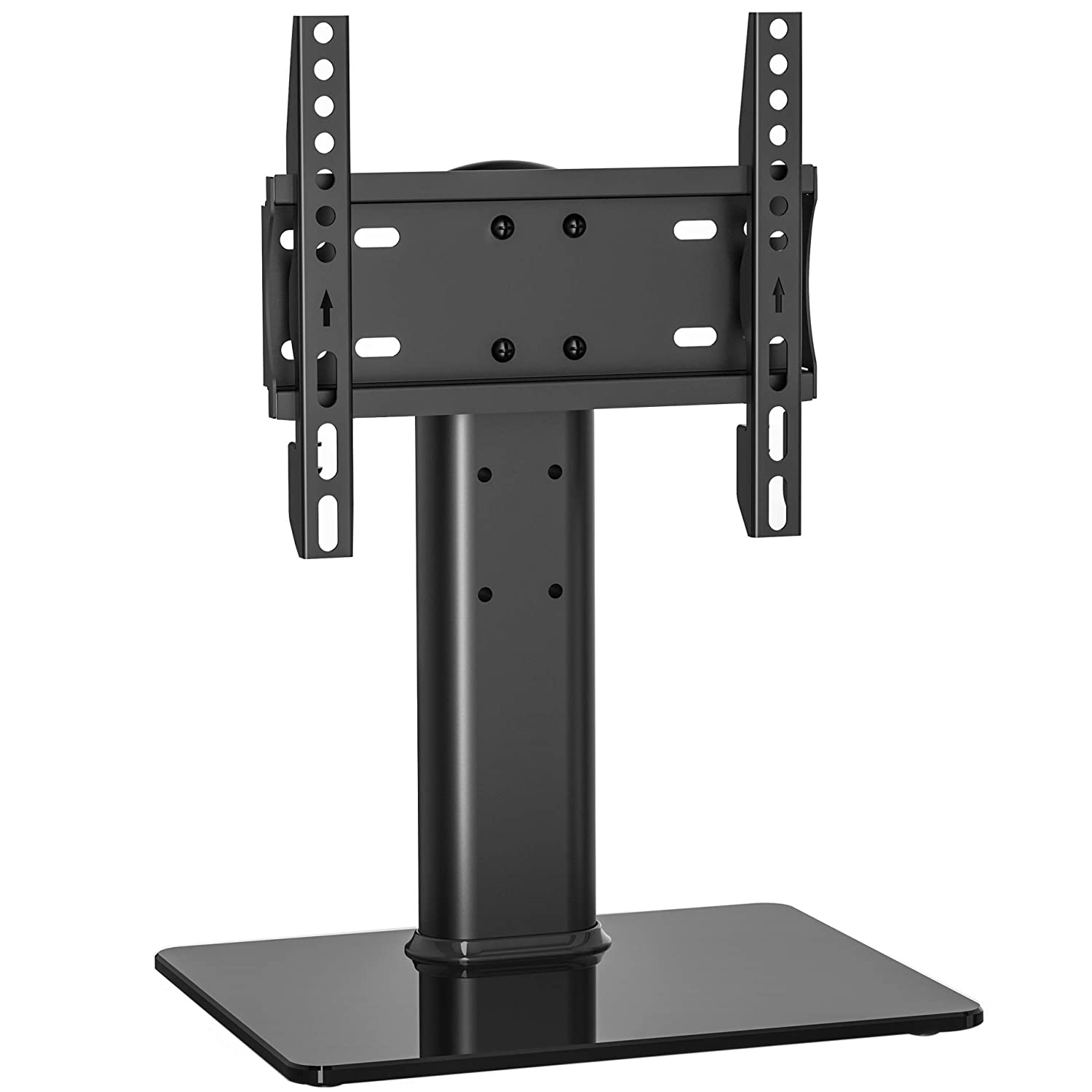 Fitueyes Universal TV Stand/Base with Swivel Mount for up to 32inch Flat Curved Screen TVS Height Adjustable TT103201GB