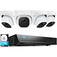Reolink 5MP Security Camera System, 4pcs 5MP Person/Vehicle Detection Smart Wired Outdoor PoE IP Cameras, 8MP 8-Channel…