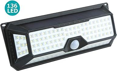 Solarleuchte 4400mAh LED Solarlampen für Außen mit Bewegungsmelder 10W