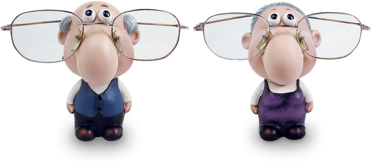 "Ikee Design Cute Grandma Grandpa Eyewear Glass Holder Display Stand, 2 3/4""W x 3 1/2""D x 4 1/2""H"