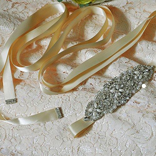 Cristaux De Femmes Ulapan Les Perles Écharpe De Ceinture De Robe De Mariée Ceinture De Ceinture De Mariée, S76 Pourpre