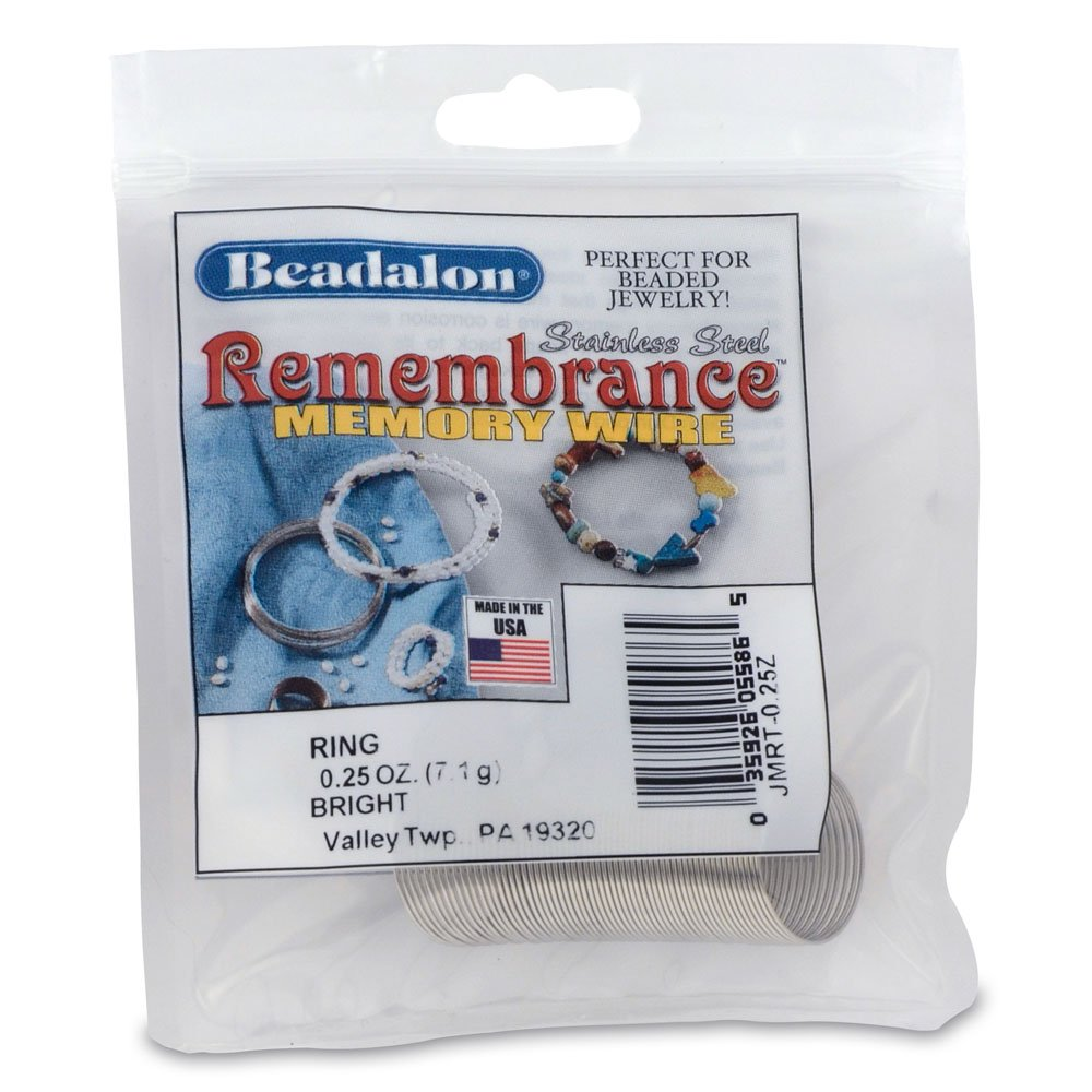 Beadalon Remembrance Memory Wire Ring, 0-1/4-Ounce-Pack, Bright ...