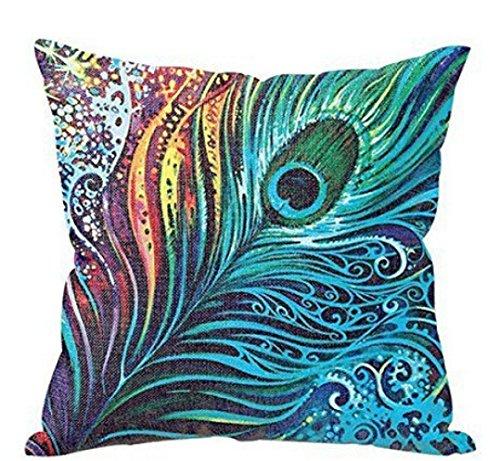 Home Decor Pillow, Gillberry Peacock Sofa Bed Home Decor Pillow Case Cushion Cover