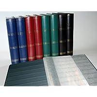 Prophila Leuchtturm classificatori 60 pagina pagine nere, blu colori