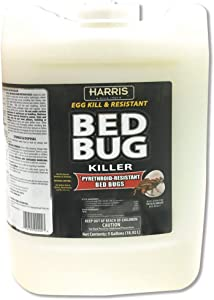 HARRIS Commercial Bed Bug Killer, Toughest Liquid with Odorless and Non-Staining Extended Residual Kill Formula, 5 Gallon