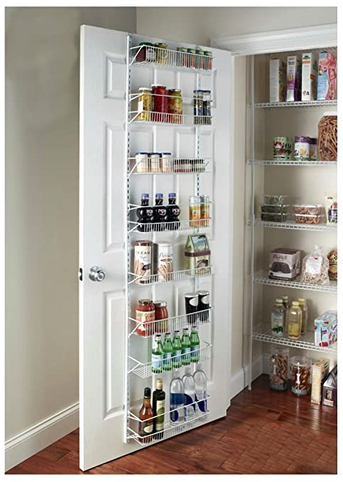 Over-the-Door Spice Rack Wall Mount Pantry Kitchen 8-Tier Cabinet  Organizer, 77-Inch Height X 18-Inch Wide\