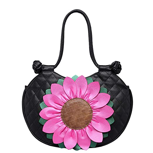 WENDYRAY Mujeres Sun Flor patrón Bolsos para Damas Messenger ...