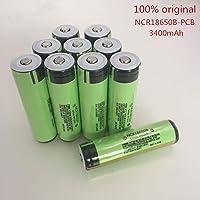 XuBa Batería de Litio Recargable con PCB para Recambios 3.7V 3400Mah NCR 18650B