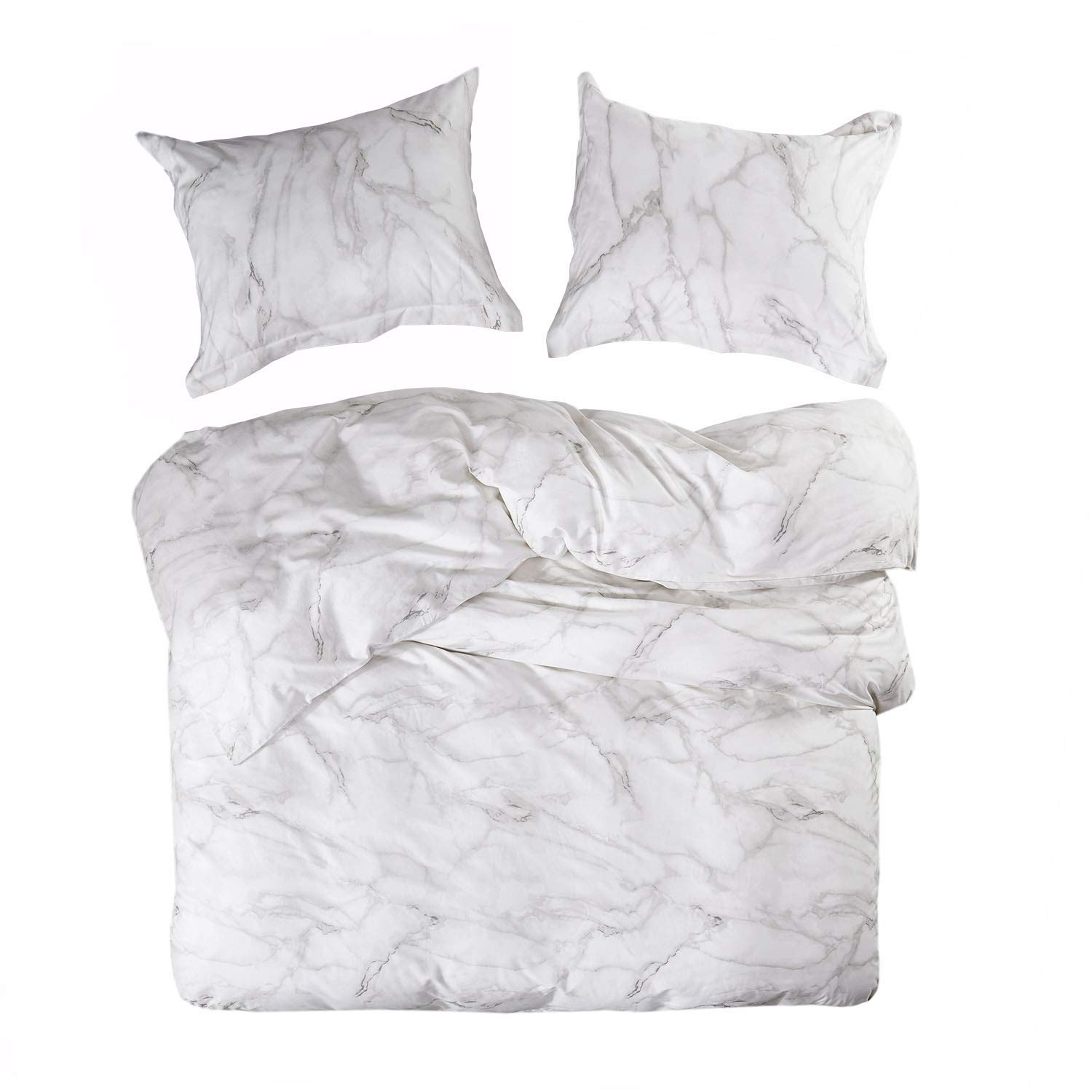 cff5c4990878 Details about Wake In Cloud - Marble Duvet Cover Set